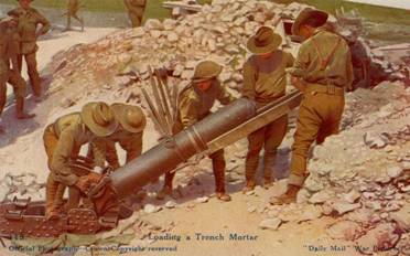 Loading a Trench Mortar Photo; www.longlongtrail.co.uk